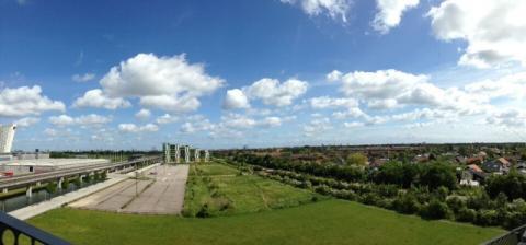Panorama of Orestad development (Denmark)  (Photo courtesy of Alicia Fall)