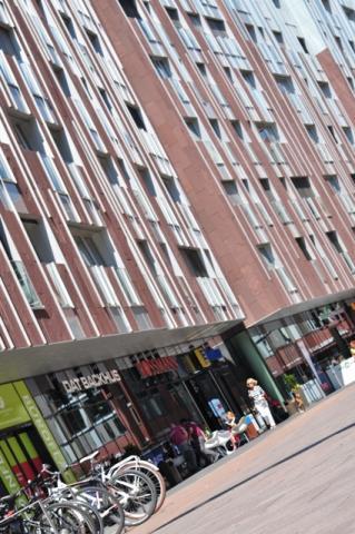 Architecture in main square of HafenCity